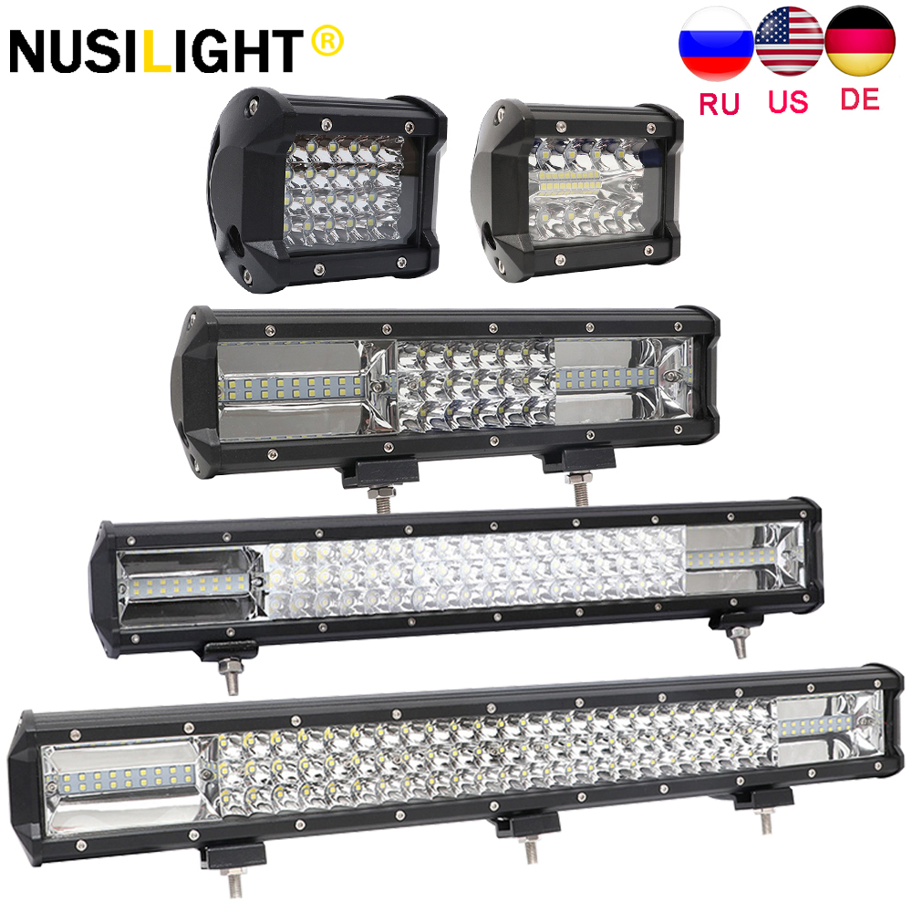 12V Car Work Light Led Bar Beams Off-road 4x4 4WD SUV Trucks Fog Lamp For Toyota land cruiser 120 <font><b>90</b></font> 150 100 80 Kdj 120 70 hdj image