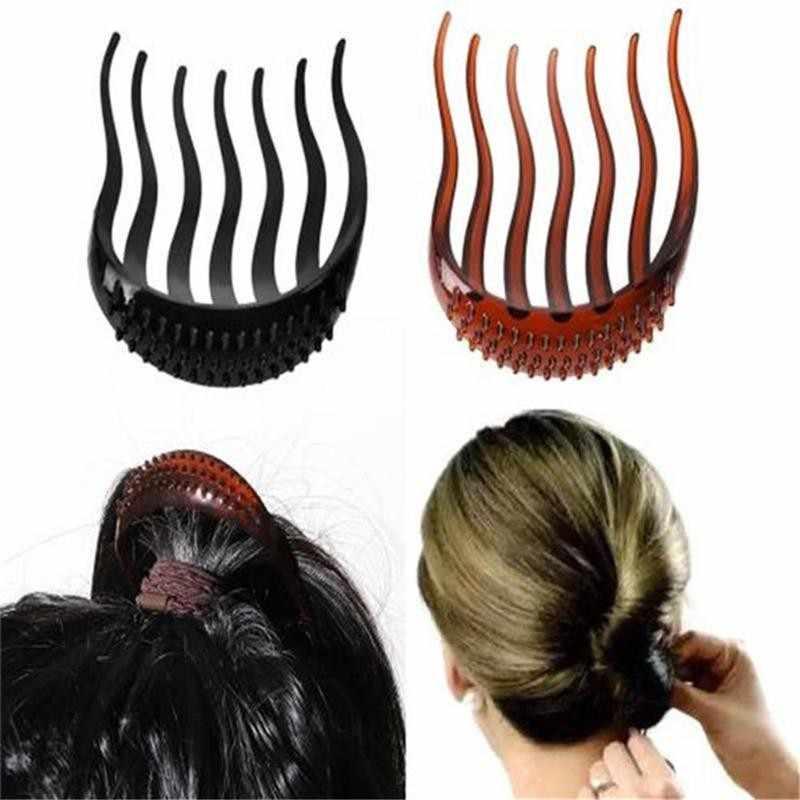 Chic Coque Pince à cheveux Acétate résine imprimé floral Épingles À Cheveux Adhérence Queue De Cheval Pince à cheveux