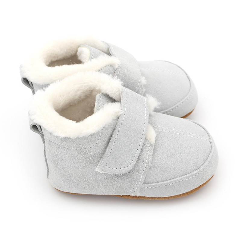 New Winter Baby Shoes For Infant Girls Boys Toddler Genuine Leather With Rubber Anti Slip  Baby Moccasins Leather