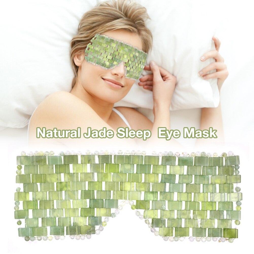 Eye Massager Tool Natural Jade Eye Mask Stone Face Massager Sleep Mask Jade Eye Mask For Eye Relax Eye Care Beauty Tool