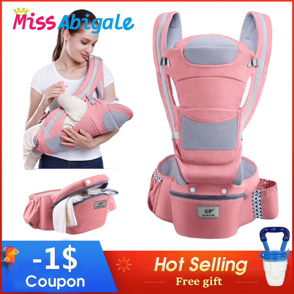 MissAbigale Ergonomic Baby Carrier Infant Baby Hipseat Waist Carrier Front Facing Ergonomic title=