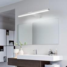 Modern led bathroom mirror lights L400/600/800mm Front Mirror bathroom washroom AC90-260V Black/White Finished Mirror Lamp