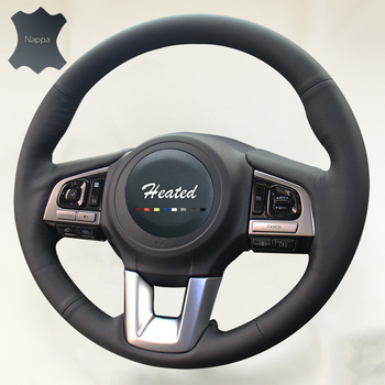Soft Breathable Nappa Leather Car Steering Wheel cover for Subaru outback capa para volante braid on the Steering Wheel