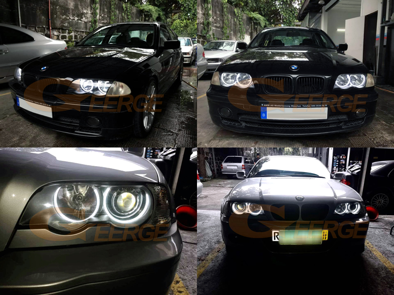 2 REAR LIGHTS BMW 3 SERIES E46 2001-2005 330Xd 325Xi 320d WHITE RED CRISTAL