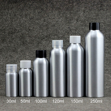 30ml 50ml 100ml 120ml 150ml 250ml Silver Metal Bottle Makeup Water Packaging Cosmetic Toners Aluminum Container Free Shipping