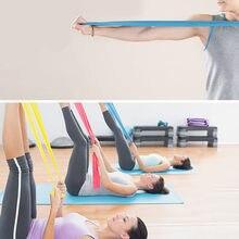 Yoga elastico Pilates resistenza all'allungamento 1.5m esercizio lungo fascia Fitness cintura allenamento allenamento anello in gomma sport Yoga Pilates