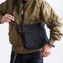 Bolso de lona simple Vintage AETOO, bolsa cruzada de verano para hombre, para hombro Bolso pequeño, bolso para ipad