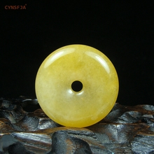 CYNSFJA Real Rare Certified Natural Golden Imperial Jade Pendant Peace Buckle Amulet Carved Fine Jewelry High Quality Best Gift