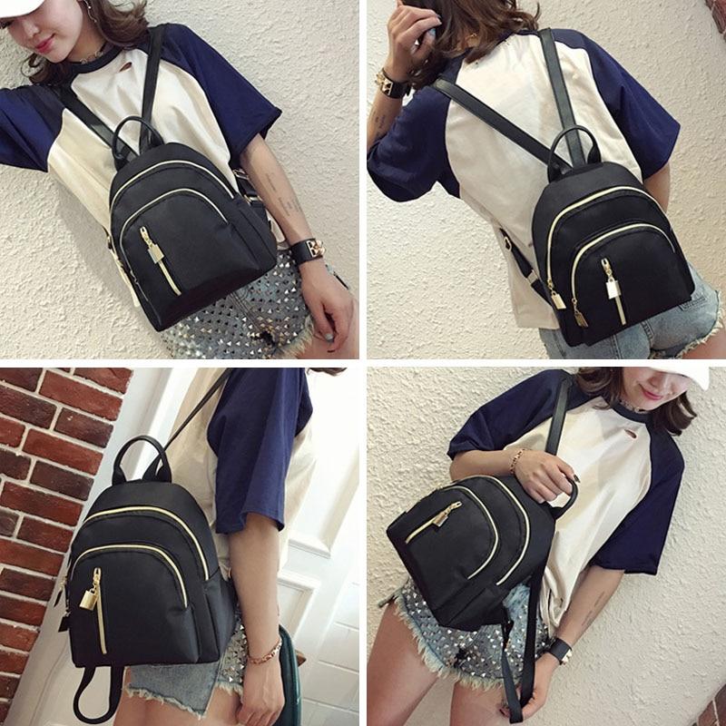 New Women Travel Backpack Oxford Cloth Zipper Shoulder Bag Casual Mini Backpacks MV66