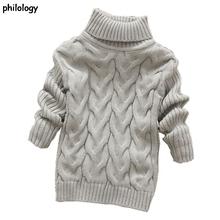 Filologia 2T-8T pure color zima chłopiec dziewczyna kid gruba dzianina najniższy bluzki z golfem jednolity wysoki kołnierz sweter sweter tanie tanio philology Akrylowe Formalne Stałe REGULAR Unisex Pełna NONE Pasuje prawda na wymiar weź swój normalny rozmiar Brak