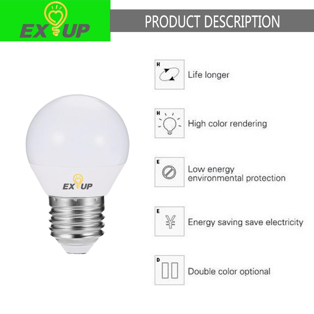 Exup G45 5W E27 450LM LED Globe Bulb