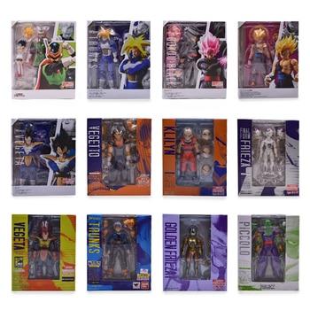 Dragon Ball Z SHF Son Goku Gokou Vegeta Zamasu Kuririn Trunks Bulma Frieza Piccolo Super Saiyan PVC Action Figures Toy Doll цена 2017