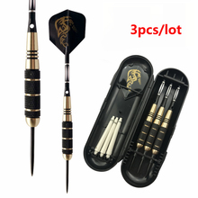 3pcs/lot 24g Professional Brass Barrels Steel Tip Darts for Dartboard Games Black Color with Dart Accessories