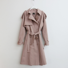 2020 The New Spring Women Cotton Trench Coat Long Sleeve Vintage Korean Fashion