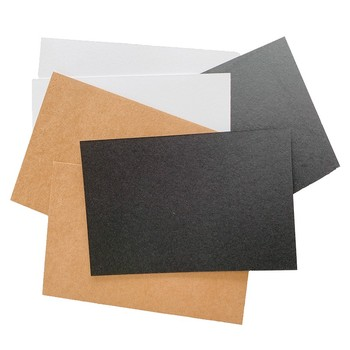 20Pcs Blank Kraft Paper Card stationery handmake Letter paper postcard diy Brown/White/Black 14*10CM