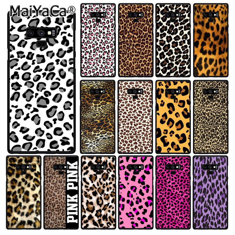 MaiYaCa Fashion <font><b>Sexy</b></font> Leopard Print Panther Phone <font><b>Case</b></font> For Samsung Galaxy A50 Note9 8 7 10 Pro 5 J5 J6 Prime J6plus J7DUO image