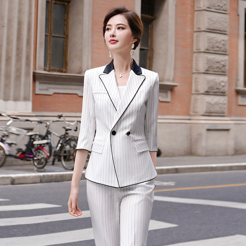 2020 New Women's High-end Professional Suit Pants Two-piece Suit Casual Ladies Jacket Office Interview Clothing Feminine