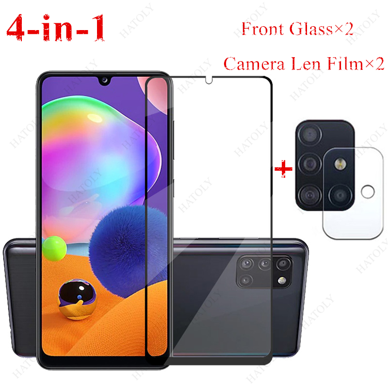 2PCS For Samsung Galaxy A31 Glass For Samsung Galaxy M31 M21 A41 A51 A71 A11 A01 A10 A20 A30 A50 Tempered Glass Screen Protector