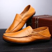 Flat Leather Slip Moccasins Shoe