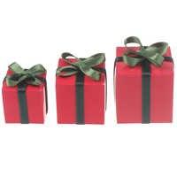 3 unids/set 1/12 casa de muñecas en miniatura de papel de caja de regalo de Navidad Juego Mini muebles de casa de muñecas accesorios de decoración de Juguetes