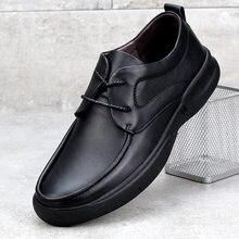 Neue Echtes Leder männer Casual Schuhe Große Größe 45 46 47 48 Verbreitert Runde Kopf Spitze-up Handarbeit männer Schuhe jkm789