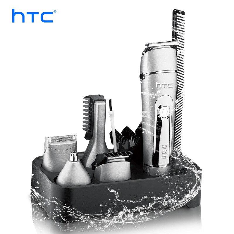 Многофункциональная машинка для стрижки волос HTC 5 в 1, бытовой электрический триммер для личной гигиены, машинка для стрижки бороды, носа, во...