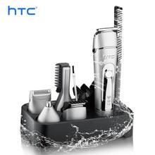 Htc 5 em 1 multi-função máquina de cortar cabelo doméstica cuidados pessoais aparador elétrico barba nariz máquina de corte de cabelo navalha