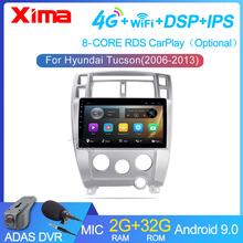 XIMA Auto Radio Android 9,0 2G + 32G DSP Multimedia Video Player Für Hyundai Tucson 2006 2007 2008-2010 Navigation GPS 2 din
