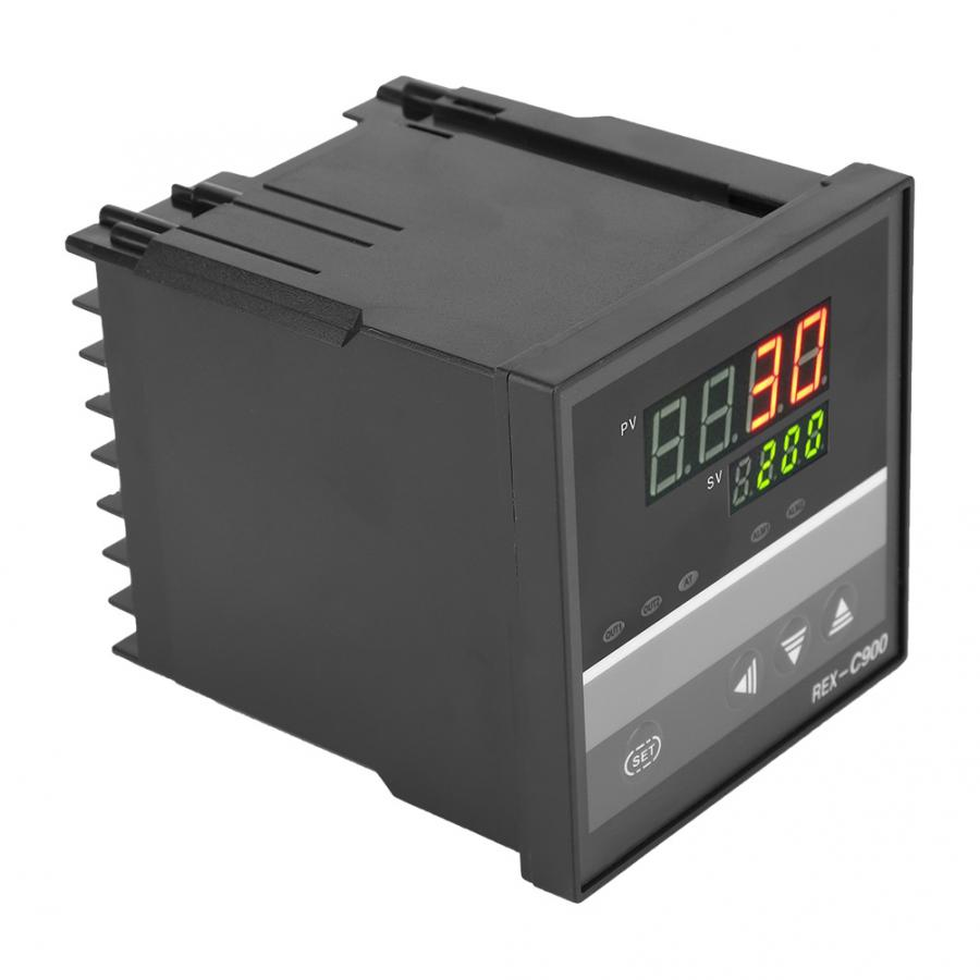 <font><b>REX</b></font>-<font><b>C900</b></font> Intelligent <font><b>PID</b></font> Temperature Control Regulator Thermostat for Furnace Machinery Digital Car Thermometer image