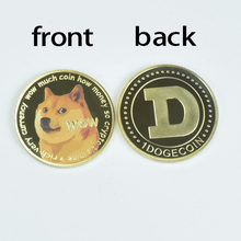 New Wow Dogecoin Colorful print Gold Doge coin with Plastic shell Doge coin for collection coin