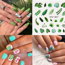 1PC Nail Water Decals Bladeren Bloem Water Transfer Nail Stickers Beauty DIY Decoratie Ontwerpen DIY Tattoo Tip(China)