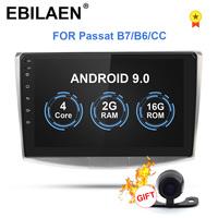 EBILAEN Car Radio Multimedia Player For VW Volkswagen Passat B7 B6/Magotan 2Din Android 9.0 Autoradio GPS Navigation DVR Camera
