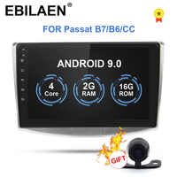 Lecteur multimédia Autoradio EBILAEN pour VW Volkswagen Passat B7 B6/Magotan 2Din Android 9.0 Autoradio GPS Navigation DVR caméra