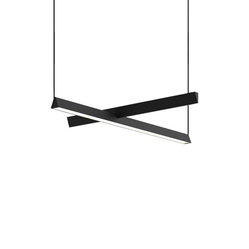 Modern Acrylic Led Light Pendant Kitchen Living Room Pendant Lights Black Aluminum Art Pendant Lamp Dining Room Decor Hanglamp|Pendant Lights| |  - title=