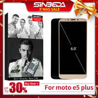 Original para Motorola Moto E5 Plus XT1924 pantalla LCD digitalizador de pantalla táctil con marco pantalla para Moto E5 Plus pantalla XT1924