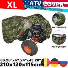 XL 210x120x115cm 190T Motorcycle Waterproof Cover Rain Dust Sun UV Quad Bikes ATV Protector Case For Polaris Honda Yamaha Suzuki