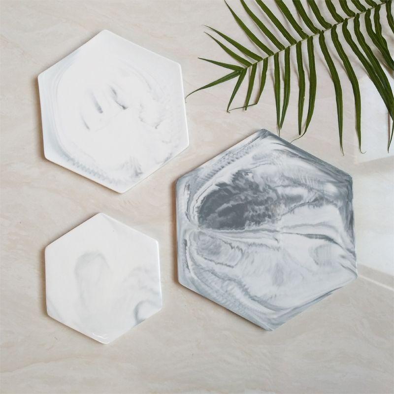 Мраморные разделочные доски для сыра декоративная тарелка для кондитерских изделий поднос для сервировки измельчитель разделочная подставка Mad Pad серый большой круглый прямоугольник-4
