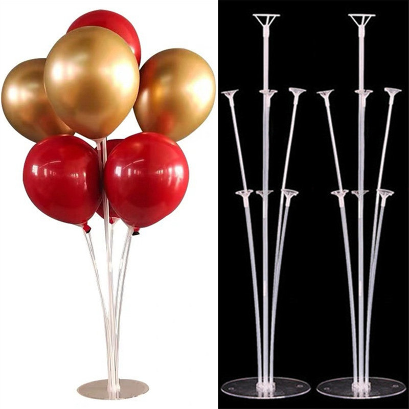 Balloons Stand Birthday Party Decorations Kids Globos <font><b>Support</b></font> <font><b>Ballon</b></font> Stand Helium Foil Balloon Accessories Confetti Balloon Arch image
