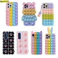 Custodia per giocattoli Pop Bubble Fidget per Xiaomi Redmi Note 10 10s 10T 9 9s 9T 8 7 6 5 Pro Max 9A 9i 9C K20 K30 K30i K40 Ultra S2 Y2 Cover