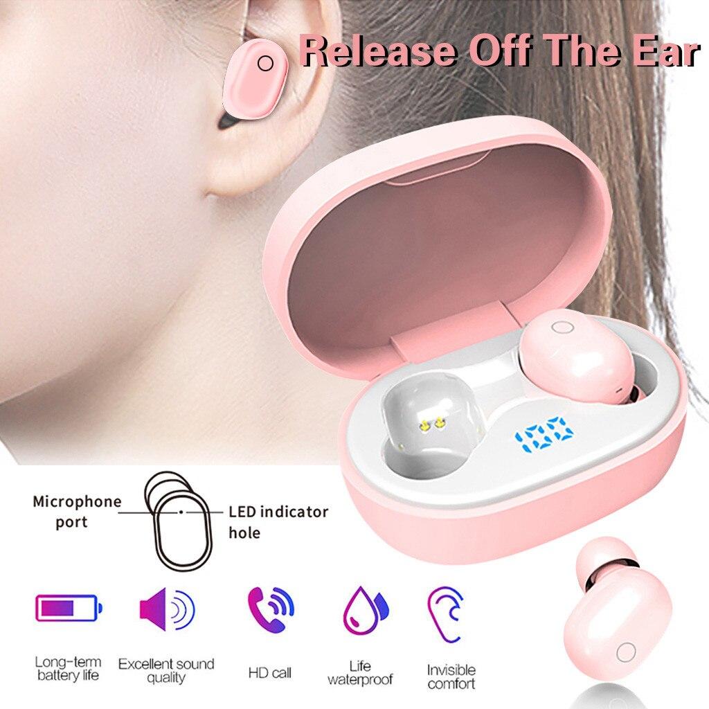BT5.0 Earphones In-Ear Wireless Headphone Stereo Earbuds Sports Headset With Mic наушники блютуз наушники Wireless Earphones#E30