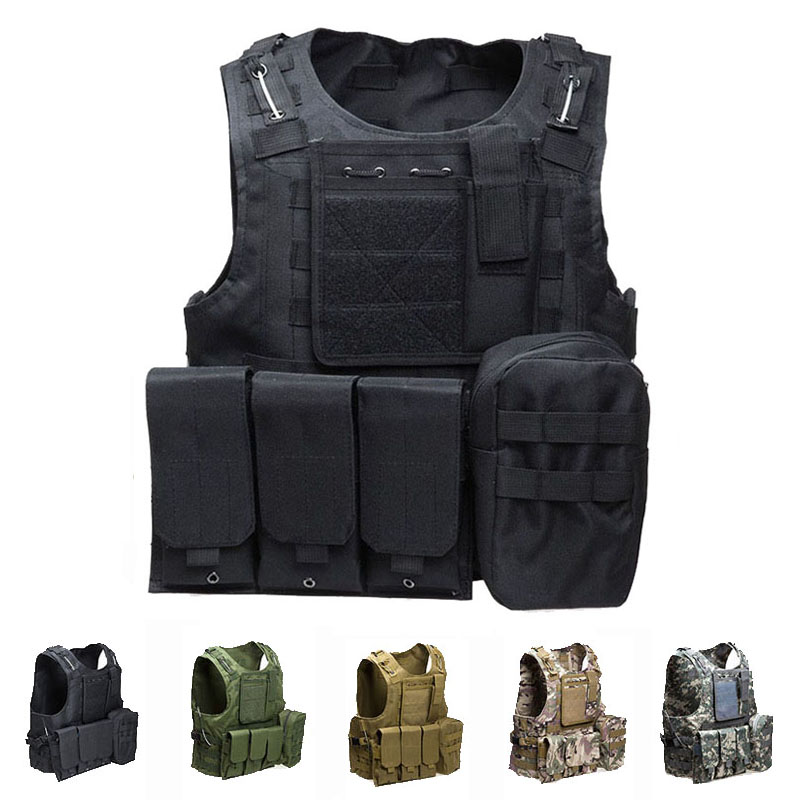 Military Equipment Tactical Vest Army Combat Airsoft Paintball Molle Body Armor Vest Outdoor Camouflage Hunting Protection Vest