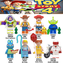 История игрушек 4 Строительные блоки мультфильм кукла фигурки форки Базз Лайтер Вуди Даки Джесси Бо Пип модель для детей подарок игрушка