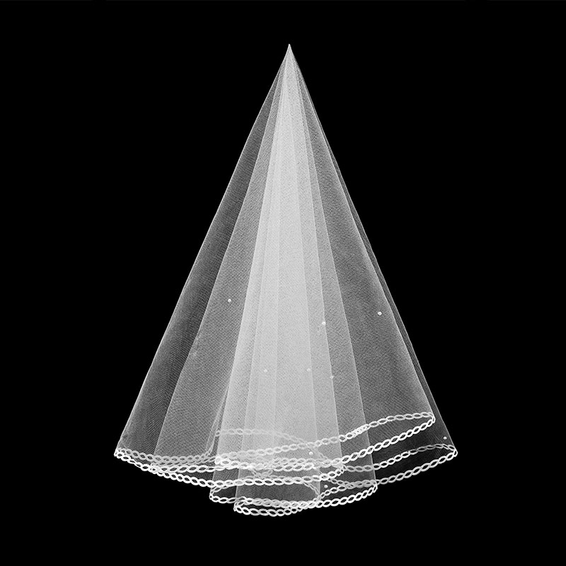 Bridal Velos De Novia 2019 Wedding Lace Veils Women 3 Meters  Applique Lace Bridal Wedding Veils With Comb