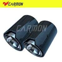 2 pièces En Fiber De Carbone Véritable Tuyau D'échappement Silencieux embout Pour BMW M Performance tuyau d'échappement M2 F87 M3 F80 M4 F82 F83 M5 F10 M6 F12 F13