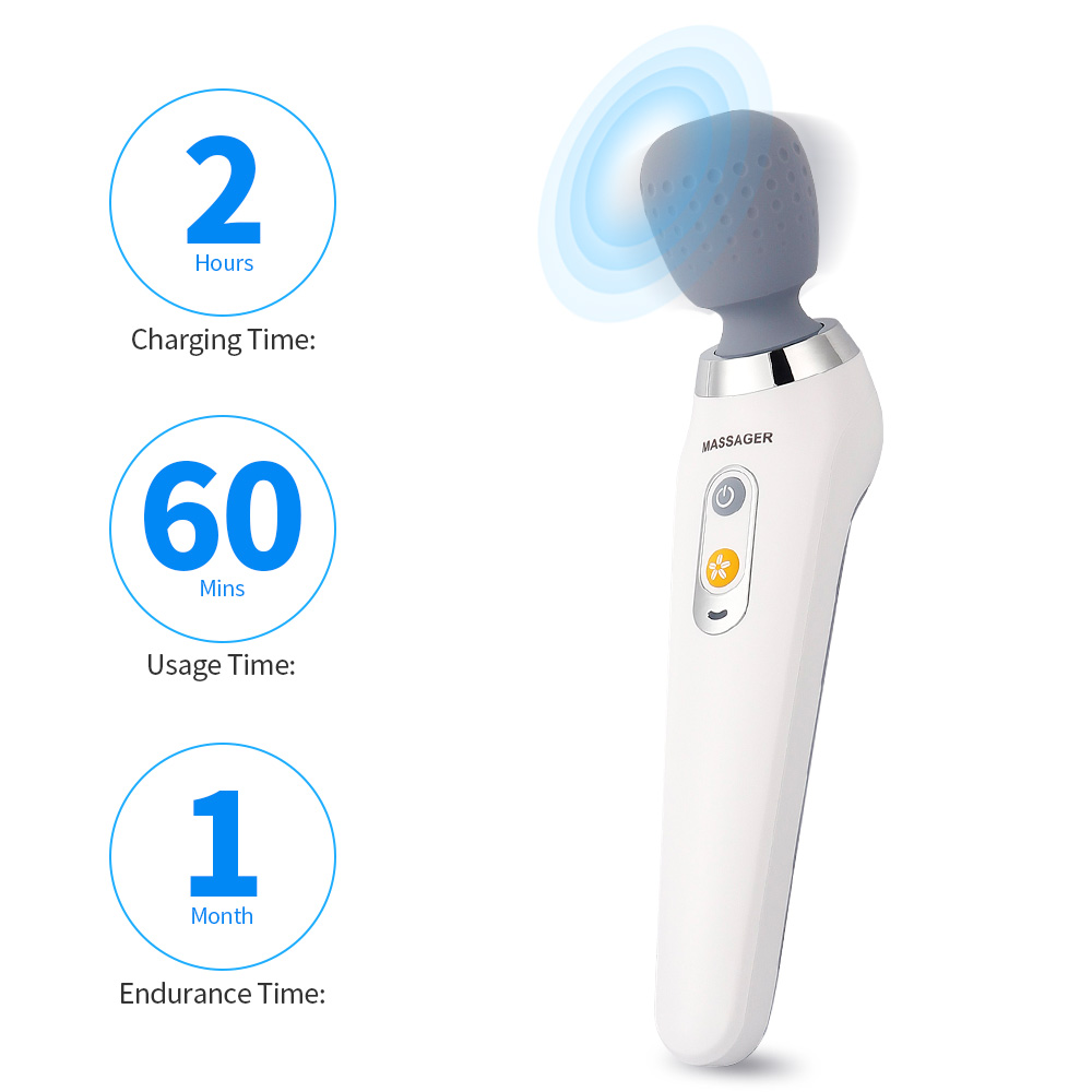 Multi-function Handheld Electric Massage Neck Cervical Muscle Body Therapy Massager 5 Vibration Modes Relax Tool USB Charging