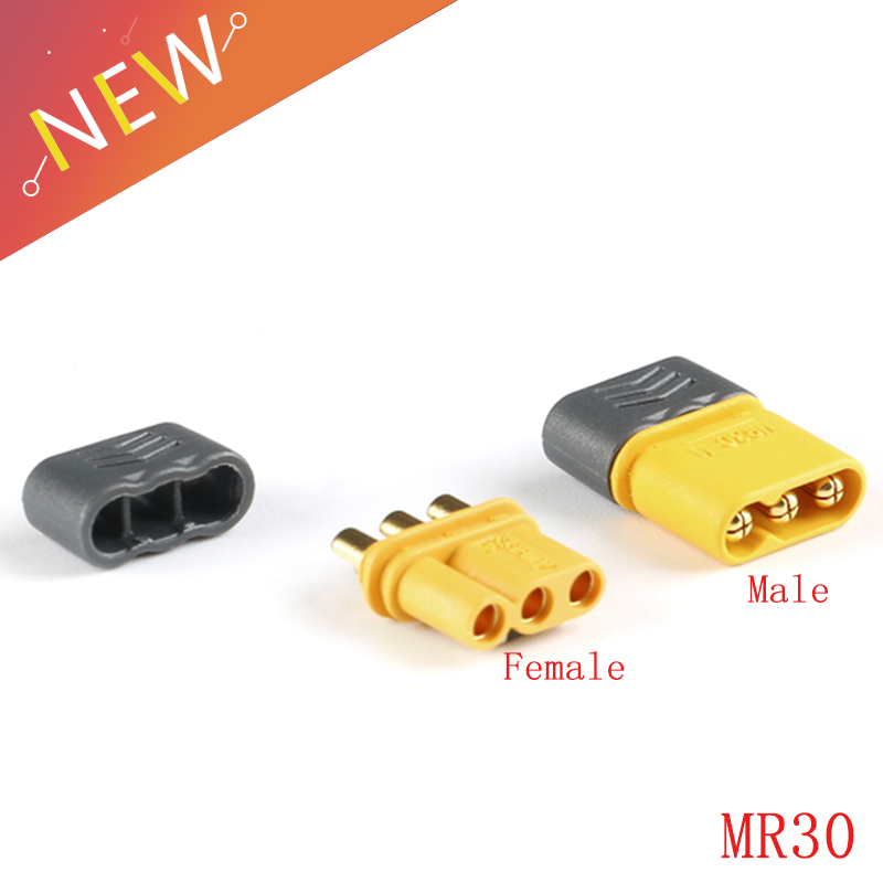 5 Pairs MR30 Male Female Connector Plug With Sheath For RC Lipo Battery RC Multicopter Airplane