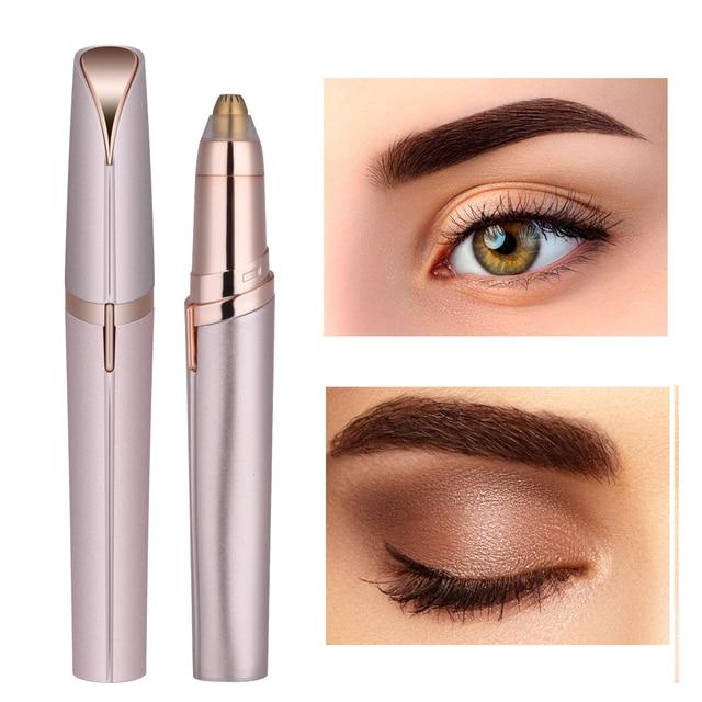 OPHAX Portable Electric Face Eyebrow Hair Remover Epilator Mini Eyebrow Shaver Razor Instant Painless Epilator Shaving Trimmer