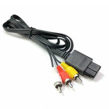 N64 SNES Gamecube 6FT RCA AV TV Audio Video Stereo Cable Cord For Nintend 64 Exquisitely Designed Durable