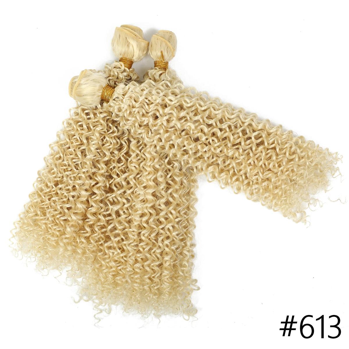 Extensões de cabelo encaracolado kinky sintético dupla