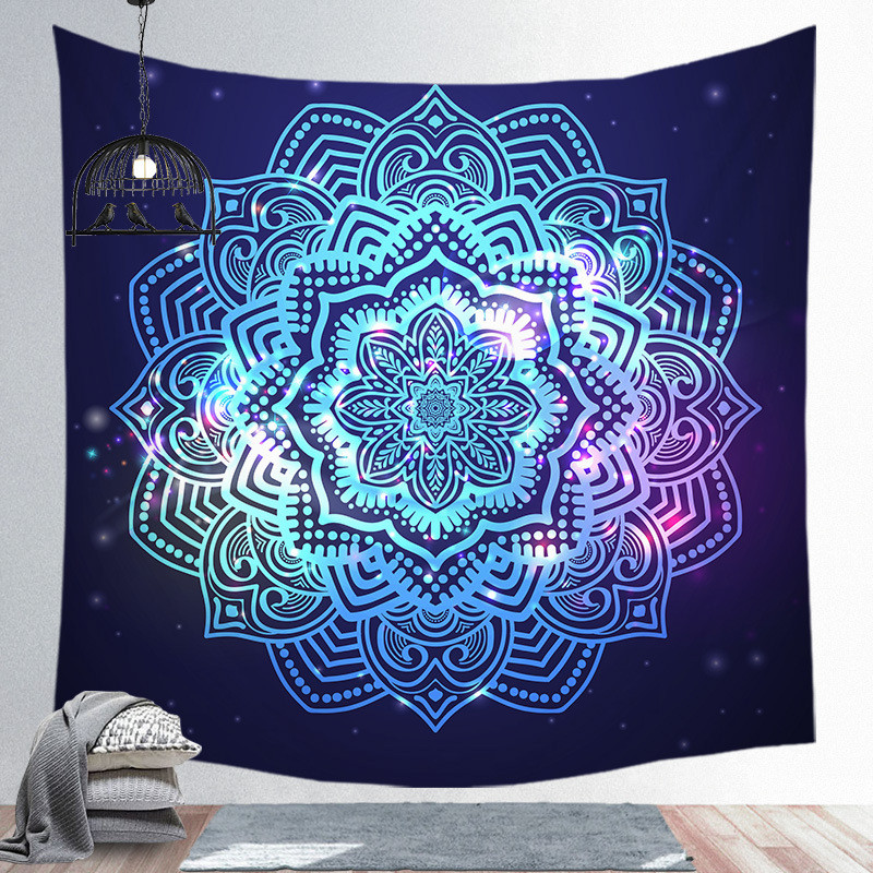 Image 4 - Indian Mandala Tapestry Wall Hanging Beach Blanket Hippie  Tapestry Home Decorative Bohemian Decorative Wall MatsTapestry   -